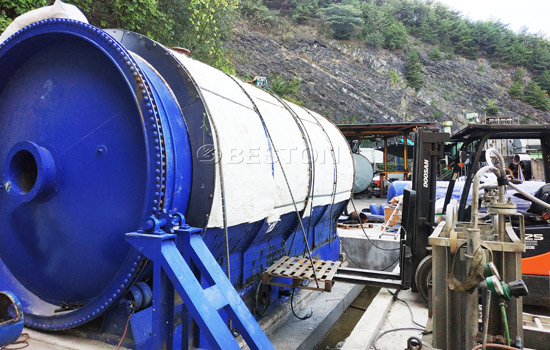 Beston Tire Recycling Plant for Sale Assembled in South Korea