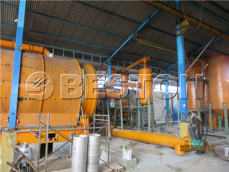 tire to oil plant