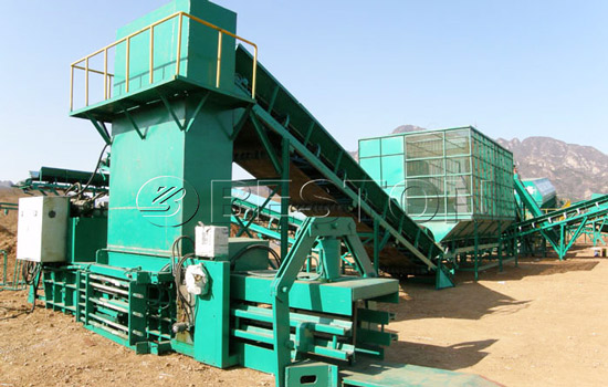 Beston garbage recycling plant for sale